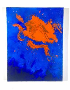 """Abstract Acrylic Painting on Canvas - 9"""" x 12"""""""