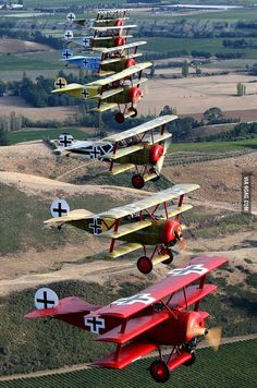 The Red Baron and his squadron