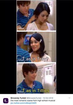 """""""Stress level: Troy choosing between singing and basketball."""""""