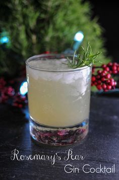 Rosemary's Pear Gin Cocktail Recipe Rosemary, pear, gin, drink, christmas, winter