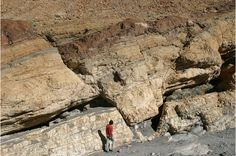 Faults in marble, entrance to Mosaic Canyon, Death Valley, California, USA