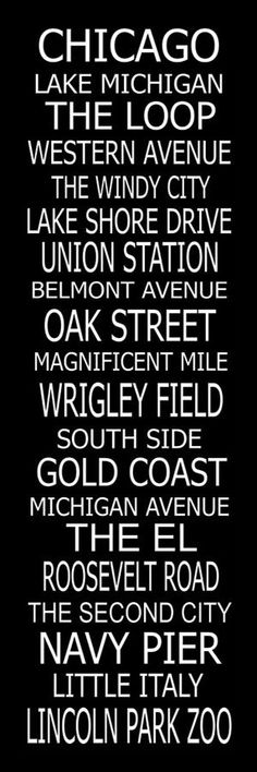 Subway Art Sign Chicago Giclee Canvas Scroll 20x60 by PaperBleu, $189.00