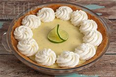 Key lime pie (tarta de lima)   Little Wonderland