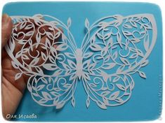 Картина панно рисунок Вырезание Бабочка Бумага фото 5