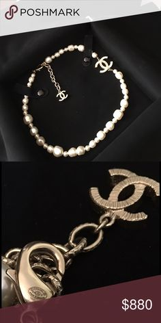 Chanel pearl necklace Mint condition. Comes with box, and dustbag with snap buttons, 100% authentic! CC is gold hardware CHANEL Jewelry Necklaces