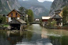 River to Hallstatt Lake Austria