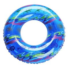 20 Water Sports Inflatable Blue Printed Swimming Pool Inner Tube Ring Float -- You can find out more details at the link of the image.Note:It is affiliate link to Amazon.