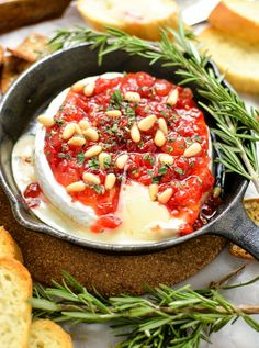 Baked Brie with Sweet Red Pepper Jam | PinkWhen