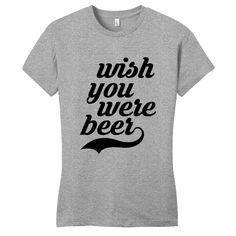 Wish You Were Beer Women's Fitted T-Shirt - Sweetums Shirts