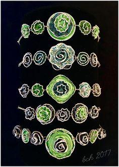 Bracelets made from Nespresso coffee capsules - armbånd laget av brukte Nespresso kaffekapsler