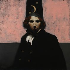 Sorcerer No-35, 24 x 24, oil on canvas, by Ray Donley at a Scottsdale art gallery