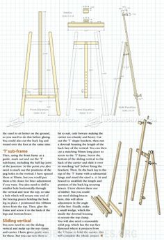 #54 Artist Easel Plans - Other Woodworking Plans and Projects