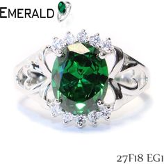 Give grace to your hand with this beautiful emerald ring.