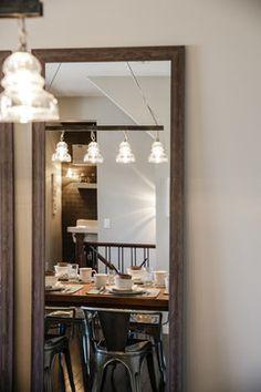 Farm Fresh Dining Rm Interior by Calgary Interior Designer Restoration Hardware Table, Dining Room Design, Dining Rooms, Lighting Showroom, Custom Cushions, Interior Design Photos, Dining Room Lighting, Home Renovation, Custom Homes