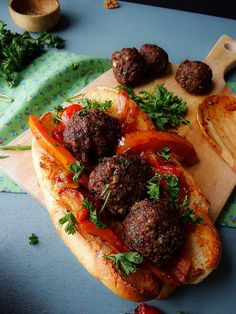 "Vegan ""meatballs"" made with baby bella mushrooms and walnuts!"