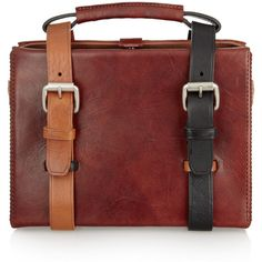 Acne Ralston leather briefcase tote (29.920 RUB) ❤ liked on Polyvore featuring bags, handbags, tote bags, purses, leather handbag tote, handbags totes, red tote bag, red leather purse and leather hand bags