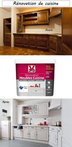 Peinture meuble cuisine na pintereste peinture meuble for Peinture meuble bois sans sous couche