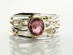 Blush Pink Tourmaline ring silver pink ring women tourmaline