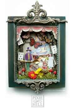 The Mad Hatters Tea - Altered Art Shadowbox - PAPER CRAFTS, SCRAPBOOKING  ATCs (ARTIST TRADING CARDS) - Knitting, sewing, crochet, tutorials, children crafts, papercraft, jewlery, needlework, swaps, cooking and so much more on Craftster.org