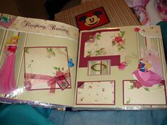 Sleeping Beauty Scrapbook Page