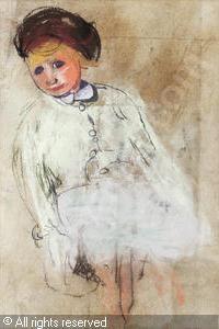 EARDLEY Joan Kathleen Harding - Girl with Chestnut Hai