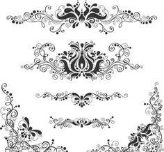 retro floral patterns / flourishes
