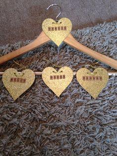 Bridesmaids hanger tags