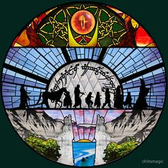 Lord of the Rings - Stained Glass by ohitsmagic