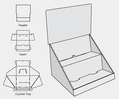 cardboard display counter - Buscar con Google                                                                                                                                                                                 Más