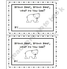 Brown Bear, Brown Bear, What Do You See? Freebie (Student Book)This book is a great way for students to practice their reading and writing color words and retell the classic story. Preschool Colors, Kindergarten Literacy, Literacy Activities, Reading Activities, Teaching Resources, Petite Section, Brown Bear Book, What Do You See, Beginning Of School
