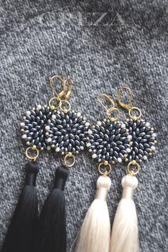Серьги-кисти с плетеной бусиной. https://vk.com/greza_market…