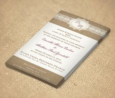 Simple rustic lace and burlap invitations  Dalilly Designs - Wedding.com