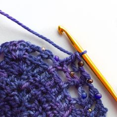 Tutorial on how to crochet with beads.