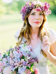 Blumenkranz selber machen aus welchen Blumen - Gerbera, Rose, Gartenblumen oder Kunstblumen?