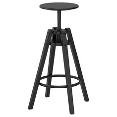 IKEA - DALFRED, Bar stool, black, You can adjust the height as you like. Suitable for bar heights between 90 and 110 cm. For increased stability, re-tighten the screws about two weeks after assembly and when necessary.