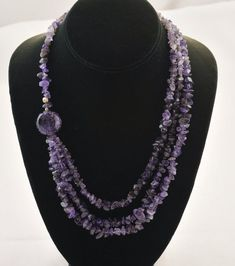 Items similar to Amethyst Chips Silver Necklace on Etsy - silver chain with . - Items similar to Amethyst Chips Silver Necklace on Etsy – Silver Necklace with Amethyst Chips fro - Diy Jewelry Necklace, Bead Jewellery, Gemstone Necklace, Silver Necklaces, Pearl Jewelry, Beaded Jewelry, Handmade Jewelry, Beaded Necklace, Beaded Bracelets