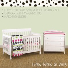 Nursery Packages http://www.cottontaledesigns.com/collections/furniture-package-with-glider-3pc-bedding-set