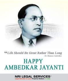 Life should be great rather than long. Dr. Bhimrao Ambedkar  #ambedkarjayanti