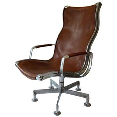 Shop swivel chairs and other antique and modern chairs and seating from the world's best furniture dealers. Modern Lounge, Modern Chairs, White Furniture, Cool Furniture, Danish Modern, Lounge Chairs, Swivel Chair, Hungary, Tan Leather