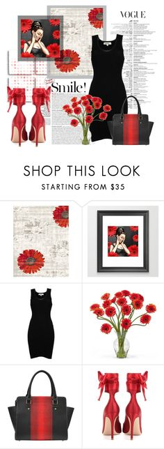 """""""Daisy Girl"""" by colormegirly ❤ liked on Polyvore featuring Dynamic Rugs, Jean-Paul Gaultier, Nearly Natural, Gianvito Rossi, handbags, fashionset and polyvoreset"""