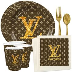 Louis Vuitton Handbags - The best ideas to throw a Louis Vuitton Party. You won't miss with these Louis Vuitton themes and - Louis Vuitton Cake, Louis Vuitton Handbags, Louis Vuitton Monogram, Custom Plates, Clipart, Authentic Louis Vuitton, Etsy, Party Supplies, Napkins