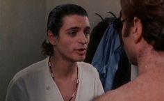 """Fabrizio Bentivoglio in """"Il bandito dagli occhi azzurri"""" (1980)"""