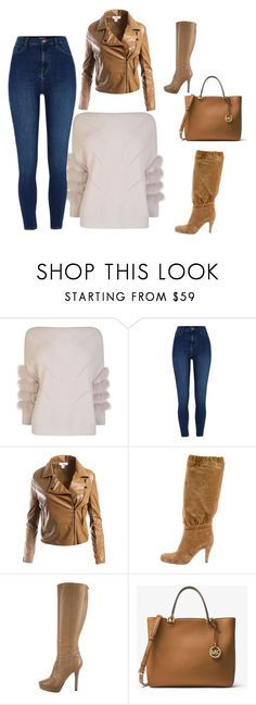 """""""Bez naslova #48"""" by mirnela-alic ❤ liked on Polyvore featuring Max & Moi, River Island, Sans Souci, Jimmy Choo and MICHAEL Michael Kors"""