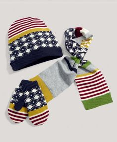 Boys Hat, Mitts and Scarf Set