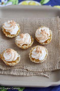 Mini Lemon Meringue Pie Fillo Tartlet Recipe | cookincanuck.com by CookinCanuck, via Flickr
