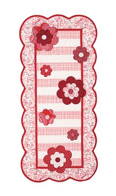 Additional Images of Blooms Table Runner Kit by Kristin Gassaway - ConnectingThreads.com