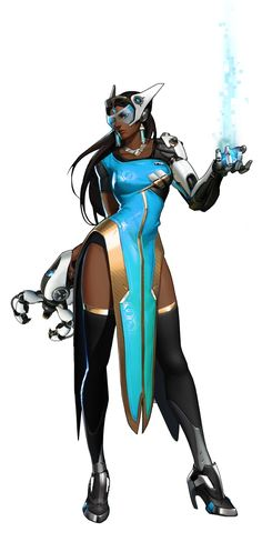Character Concept, Character Art, Concept Art, Sci Fi Characters, Video Game Characters, Overwatch Female Characters, Overwatch Symmetra, Overwatch Bastion, Arte Black