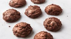Chocolate Espresso Cloud Cookies - These flourless cookies are like a cross between macarons and meringues, with a crisp outer shell and moist, gooey dark-chocolate interior. Chocolate Espresso, Melting Chocolate, Espresso Coffee, Italian Espresso, White Chocolate, Crêpe Recipe, Tuiles Recipe, Rhubarb Muffins, Rhubarb Pie