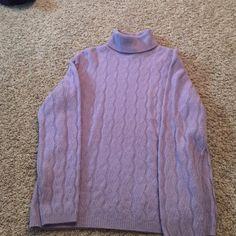 Long neck purple sweater Purple long neck sweater. Worn once. Great condition Ann Taylor Sweaters Crew & Scoop Necks