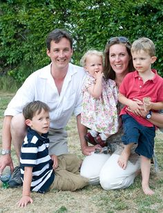 Torquhil and Eleanor with their children (from left) Archibald, Charlotte and Rory